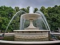 Fountain in the Saxon Garden, Warsaw, Poland in July 2019.jpg