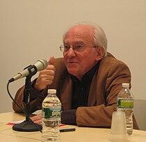 François Laruelle, April 6, 2011, Miguel Abreu Gallery, New York City.JPG