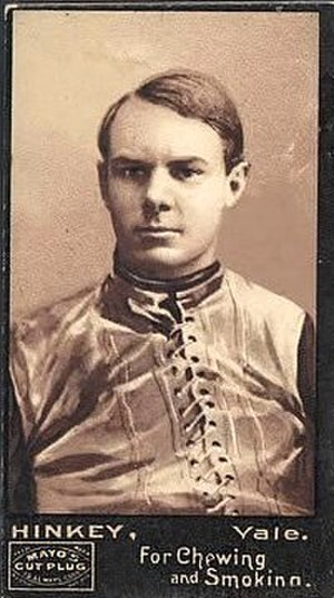 Frank Hinkey - Hinkey as a player on a football card.
