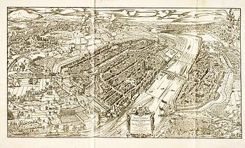 Siege plan of Frankfurt am Main