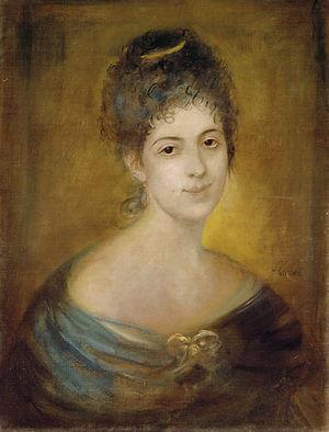 Maria Beccadelli di Bologna - Maria Beccadelli di Bologna, portrait by Franz von Lenbach, 1873