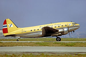 Fred. Olsen Airtransport - Curtiss C-46 Commando in 1970