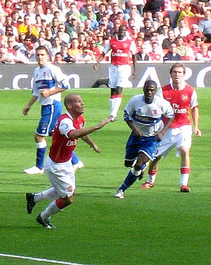 Freddie Ljungberg - Ljungberg, second from left, in a match between Arsenal and Middlesbrough, September 2006