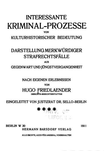 File:Friedlaender-Interessante Kriminal-Prozesse-Band 4 (1911).djvu