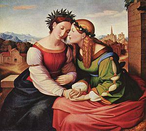 Johann Friedrich Overbeck - Italia und Germania (Neue Pinakothek).