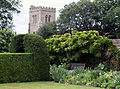 From Sundial Garden towards St Etheldredas Hatfield House Hertfordshire England.jpg
