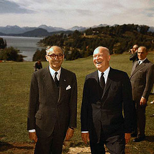 Argentina–United States relations - Argentina President Arturo Frondizi and U.S President Dwight D. Eisenhower in Bariloche, 1959.