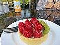 Fruit tart at Truffles (9641892588).jpg