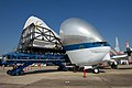 Full-Fuselage Shuttle Trainer Loaded into Super Guppy Turbine.jpg