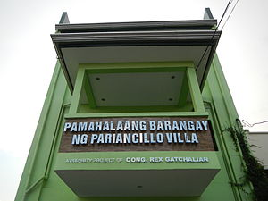 Pariancillo Villa - Barangay Hall