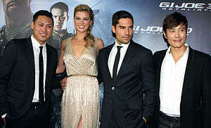 G.I. Joe: Retaliation - Director Jon M. Chu, Adrianne Palicki, D.J. Cotrona and Byung-Hun Lee.