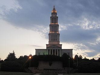 George Washington Masonic National Memorial - The memorial at sunset on July 30, 2011.
