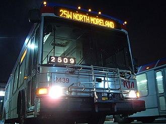 Greater Cleveland Regional Transit Authority - Image: GCRTA NABI 40 LFW 2439