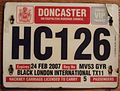 GREAT BRITAIN, ENGLAND, DONCASTER 2007 -HACKNEY CARRIAGE (TAXI) SUPPLEMENTAL PLATE - Flickr - woody1778a.jpg