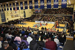 Georgia State Panthers men's basketball - The GSU Sports Arena during a men's basketball game
