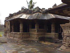 Gadag district - Saraswati temple at Trikuteshwara temple complex, Gadag