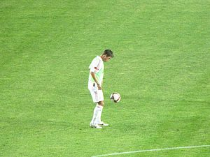 Harry Kewell - Kewell warming up before a match with Galatasaray in July 2009.