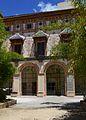 Galeria Daurada des del pati de les Canyes, palau Ducal de Gandia.JPG