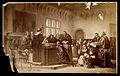 Galileo Galilei; Galileo Galilei at his trial at the Inquisi Wellcome V0018716.jpg