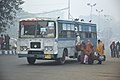 Gangasagar Pilgrims Entering Bus - Babu Ghat Area - Kolkata 2018-01-14 6494.JPG