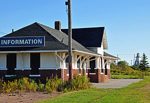 Cape Tormentine, New Brunswick - Former train station and lighthouse at Cape Tormentine