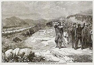 Battle of Aspromonte - Garibaldi attacked by Italian Troops at Aspromonte