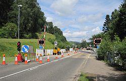 Garve level crossing upgrade works (14553524295).jpg