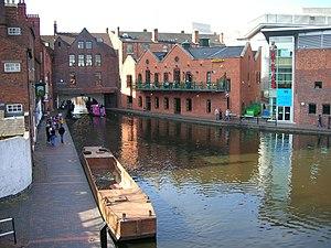 Birmingham Canal Navigations - The start of the Birmingham Canal at Gas Street Basin, central Birmingham