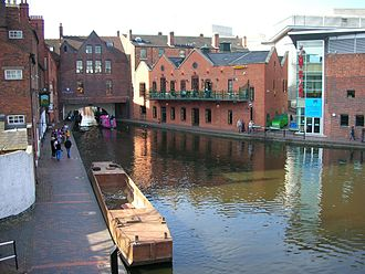 Birmingham Canal Navigations - The start of the Birmingham Canal at Gas Street Basin, central Birmingham