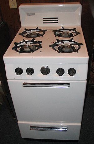 Gas stove - Many stoves use natural gas to provide heat.