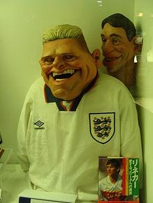 Una maschera caricaturale di Gascoigne