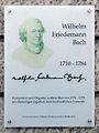 Gedenktafel Oberwallstr 9 (Mitte) Wilhelm Friedemann Bach.jpg