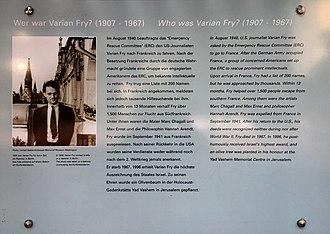 Varian Fry - Memorial plaque, Berlin