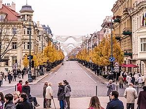 Gediminas Avenue in autumn