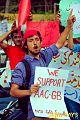 General Secretary of NSF-GB outside Karachi press club..jpg