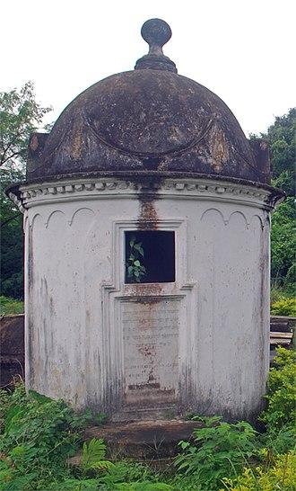 Genizah - A genizah at the Narkeldanga Cemetery, in Kolkata, India.