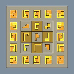 Geometric magic square