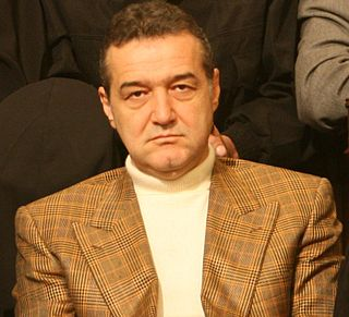 Gigi Becali Romanian politician and businessman and patron la FCSB
