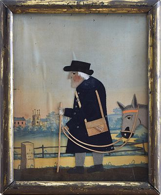 "Folk art - ""Old Bright, The Postman"", George Smart, c1830s"