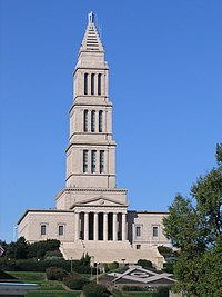 George Washington Masonic National Memorial from King Street Washington Metro station.JPG