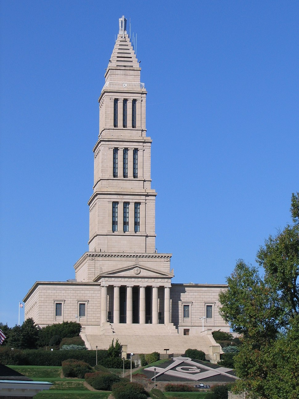 George Washington Masonic National Memorial from King Street Washington Metro station