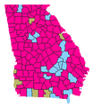 Georgia Lt. Gubernatorial Republican primary, 2018.png