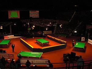 2011 German Masters - Image: German Masters 2011 Table setup