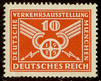 "Art Deco stamps - Germany 1925, ""Traffic wheel"""