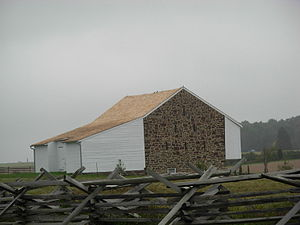 Pennsylvania barn - An extended Swisser type Pennsylvania barn at Gettysburg National Military Park
