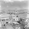 Gezicht op de St Josephkerk met toren in het centrum van Nazareth, Bestanddeelnr 255-1027.jpg