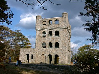 Sleeping Giant (Connecticut) - Lookout tower at the summit of the Giant