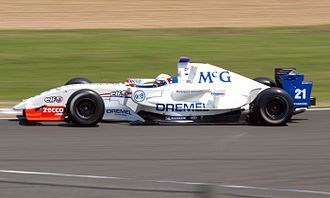 Giedo van der Garde - Van der Garde driving for P1 Motorsport at the Silverstone round of the 2008 Formula Renault 3.5 Series season.