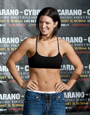 Mixed martial arts fighter Gina Carano at the ...