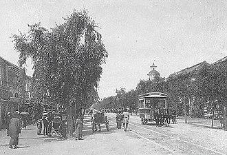 Meiji period - Ginza in 1880s.